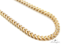 Mens 10k Hollow Yellow Gold Franco Chain 32 Inches 3mm 18.43 Grams 47429 Gold