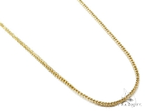 Mens 14k Hollow Yellow Gold Franco Chain 34 Inches 2.9mm 18.83 Grams 47447 Gold