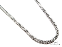 Mens 10k Hollow White Gold Franco Chain 36 Inches 3mm 27.18 Grams 47474 Gold