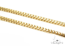Mens 10k Solid Yellow Gold Franco Chain 34 Inches 3.5mm 42.80 Grams 47729 Gold