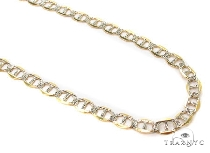 Mens 10k Hollow Yellow Gold Gucci Chain 8 Inches 4mm  47907 Gold