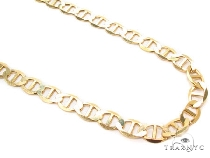 Mens 10k Solid Yellow Gold Gucci Chain 20 Inches 4.1mm 7.25 Grams 47912 Gold