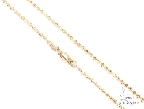 Mens 14k Solid Yellow Gold Moon Cut Chain 24 Inches 2mm 7.61 Grams 48483 ゴールド チェーン
