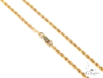 Mens 10k Hollow Yellow Gold Rope Chain 20 Inches 3mm 5.20 Grams 48531 ゴールド チェーン