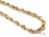 Mens 10k Hollow Yellow Gold Rope Chain 28 Inches 9mm  48575 Gold