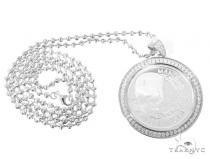 Silver Mandela Coin Pendant Set 48945 Metal
