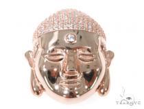 Silver CZ Buddha Head Pendant 49031 Metal