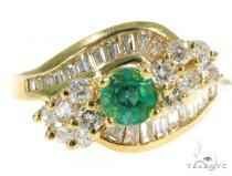 Channel Emerald Diamond Ring 49072 Anniversary/Fashion