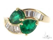 Channel Emerald Diamond Ring 49076 Anniversary/Fashion