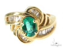 Channel Emerald Diamond Ring 49079 Anniversary/Fashion