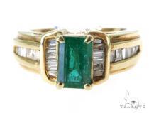 Chanel Emerald Diamond Ring 49081 Anniversary/Fashion