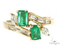 Channel Emerald Diamond Ring 49084 Anniversary/Fashion