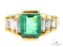 Channel Emerald Diamond Ring 49089 Anniversary/Fashion