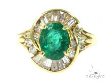 Channel Emerald Diamond Ring 49090 Anniversary/Fashion