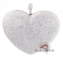 Bubble Heart Pendant Diamond Pendants