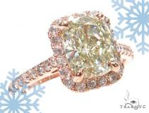 Cushion Cut Halo Diamond Engagement Ring 42900 エンゲージメント