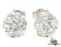 SI Round Cut Stud Earring Stone