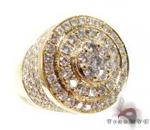 Mens Gold Mayan Pinky Ring
