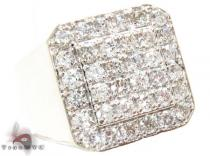 TraxNYC Heavy 14k White Gold VS Ring メンズ ダイヤモンド リング