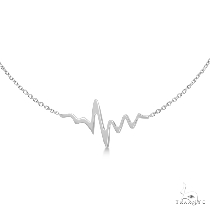 Heartbeat Bracelet in 14k White Gold ゴールドブレスレット
