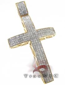 YG Dub Cross Mens Diamond Cross