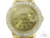 Diamond Rolex Datejust Lady Yellow Gold Watch 56565 ロレックス レディース