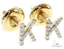 Prong Diamond Initial 'K' Earrings 57159
