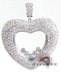 Floating Heart Pendant Diamond Pendants