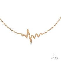 Heartbeat Bracelet in 14k Rose Gold ゴールドブレスレット