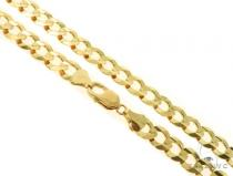 14KY Cuban Curb Link Chain 26 Inches 11mm 75.2 Grams 57278 Gold