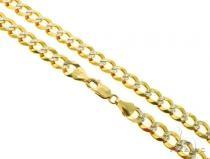 14KY Cuban Curb Diamond Cut Chain 26 Inches 10mm 59.60 Grams 57281 Gold