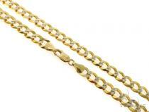 14KY Cuban Curb Diamond Cut Chain 26 Inches 8.5mm 42.1 Grams 57282 Gold