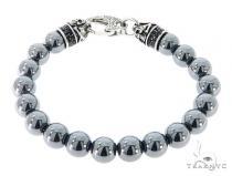 Grey Hematite Bracelet 57424 ステンレススティール ブレスレット
