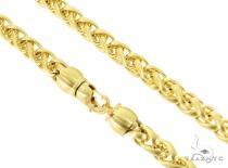 Yellow Stainless Steel Chain 22 Inches 8mm 92 Grams 57430 ステンレススティールチェーン