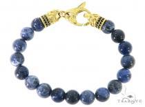 Sodalite Bracelet 57433 ステンレススティール ブレスレット