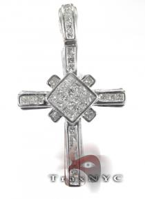 Invisible Junior Cross Mens Diamond Cross