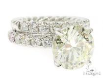 Round Cut Engagement Ring Set 61454 エンゲージメント