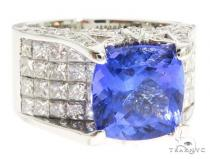 Blue Tanzanite Engagement Ring 61555 エンゲージメント