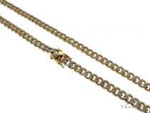 14K Yellow Gold Pave Diamond Miami Cuban Link Chain 28 Inches 7mm 84.1 Grams 61575 Diamond