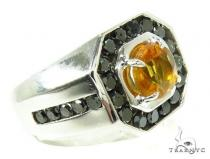 Mens Godfather Madeira Citrine Ring メンズ シルバー リング