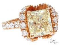 14K Yellow Gold Cushion Cut Ribbon Ring 61635 Anniversary/Fashion