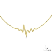 Adjustable Heartbeat Bracelet in 14k Yellow Gold ゴールドブレスレット