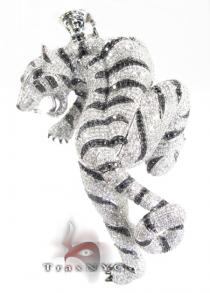 White Tiger Pendant Diamond Pendants