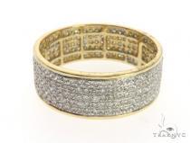 14K Yellow Gold Micro Pave Diamond Ring 63575