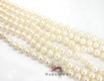 3 Strand White Pearl Necklace Pearl