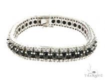 10K White Gold Prong Diamond Bracelet 63747 ダイヤモンド ブレスレット