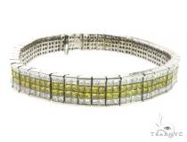 14K White Gold Dual Color Diamond Bracelet 63758 ダイヤモンド ブレスレット