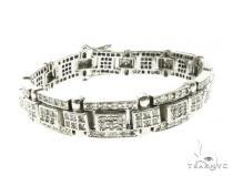 14K White Gold Prong Diamond Bracelet 63770 メンズ ダイヤモンド ブレスレット