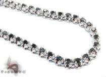 White Gold Black Diamond Chain 28 Inches 5mm 43.7 Grams 64018 ダイヤモンド チェーン