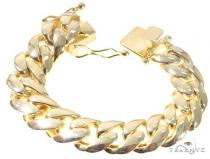 Silver Solid Miami Cuban Link Bracelet 8.75 Inches 17mm 140.0 Grams 64081 シルバー ブレスレット
